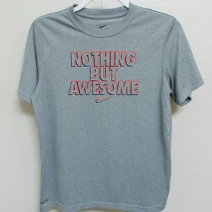 Nike Dri-Fit Gray Kids Shirt - Nothing But Awesome